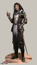 Tarnished Crusader by danielcotter