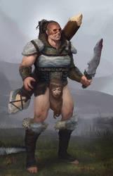 Barbarian wildman by danielcotter
