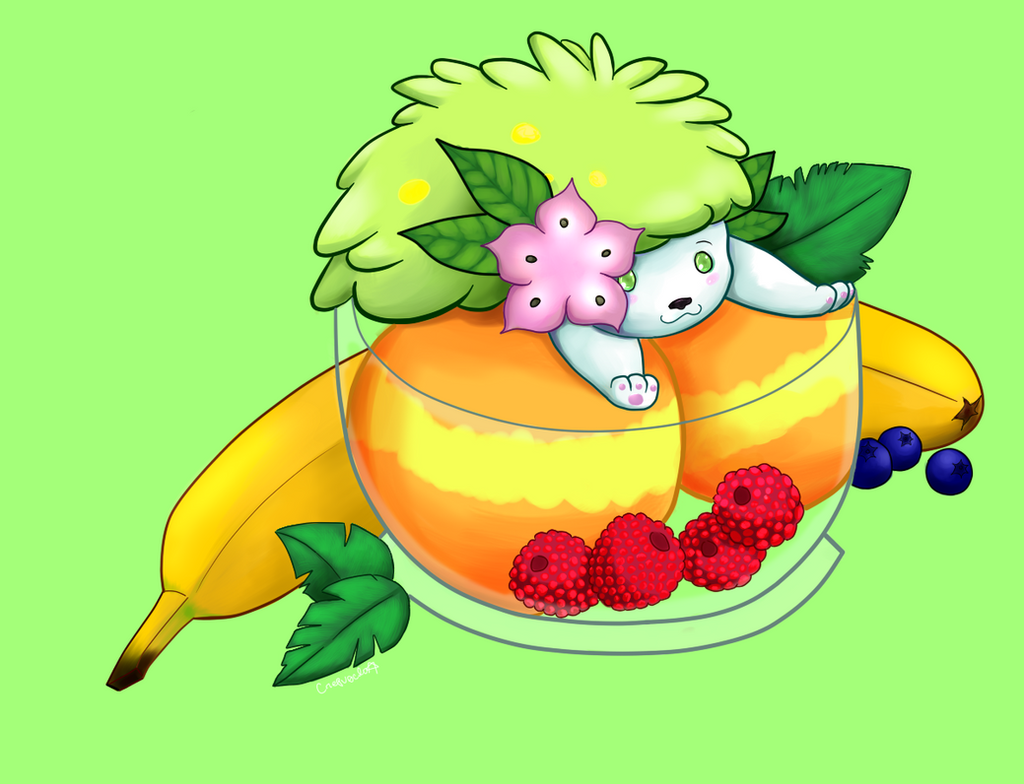 Shaymin sherbet pokemon food pun series by crepusclo on for Pokemon cuisine