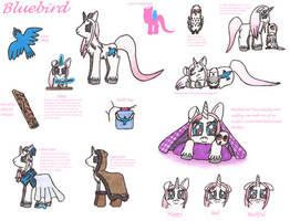 MLP: Bluebird's Character Sheet by Greenpolarbear47