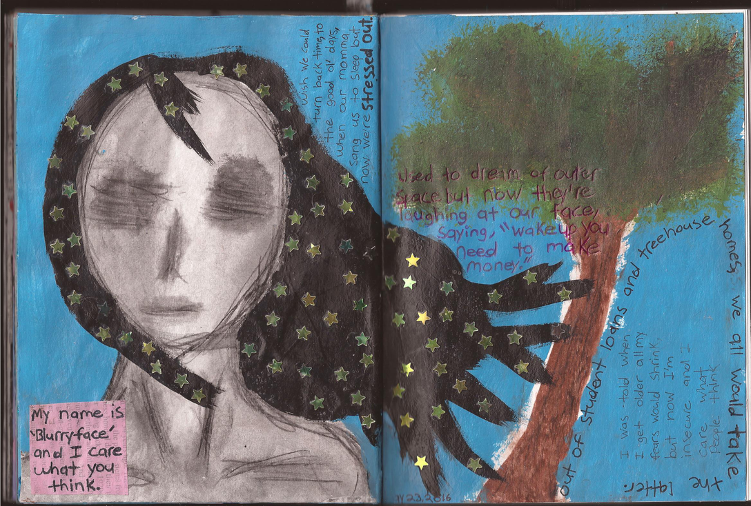 Art Journal: Entry #13 - Stressed Out by Greenpolarbear47