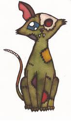 Zombie Cat by Greenpolarbear47