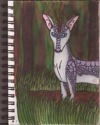 Watercolour Notebook #3: Qilin by Greenpolarbear47