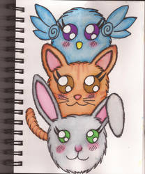 Watercolour Notebook #10: Fluff Tower by Greenpolarbear47