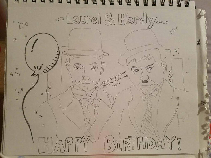 Laurel and Hardy birthday card early access by xXQueenofLycansxX – Laurel and Hardy Birthday Cards