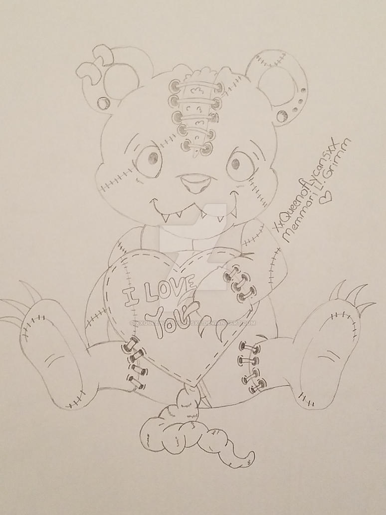 Cute Teddy Bear Zombie Drawings Www Topsimages Com
