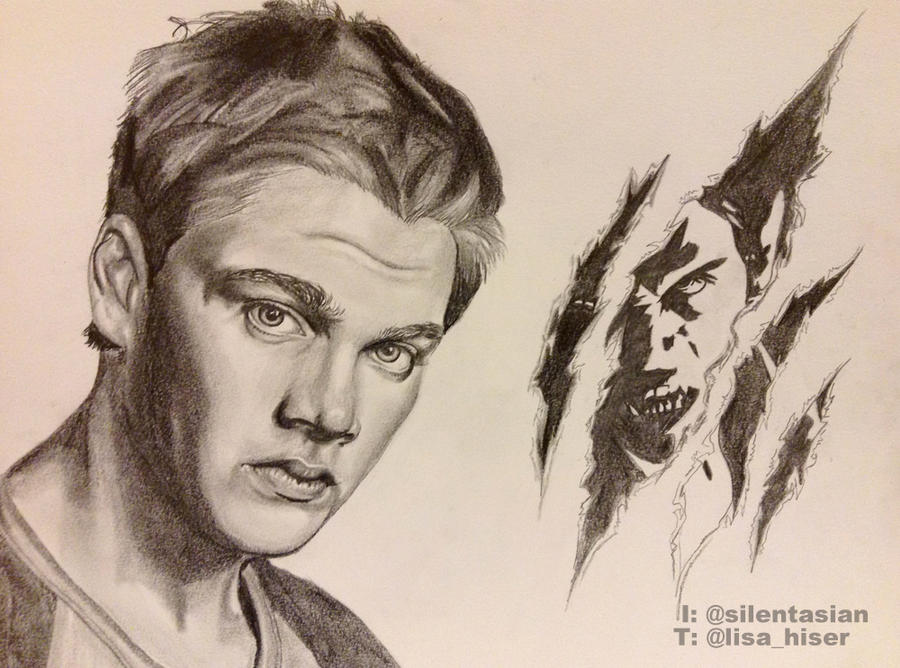 Dylan Sprayberry Teen Wolf Drawing