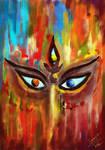 Triyambake Gauri Digital Artwork by Surajit