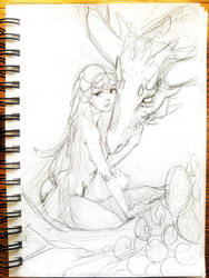 The Girl and the Dragon by Avani-Vale
