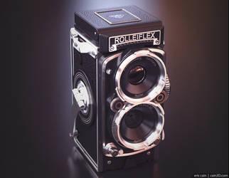 Rolleiflex Camera by cain3D