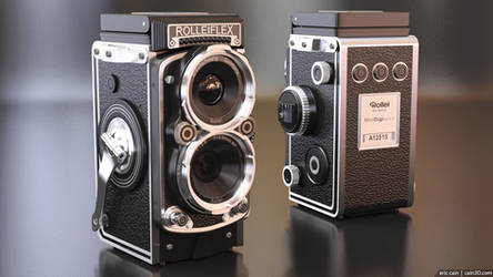 Rolleiflex Camera - both sides by cain3D