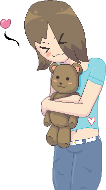 .:Me Huggling A Teddy:. by Goldie25