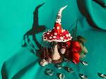 Mushroom earring Hanger by BreenStudios