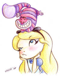 Alice and Cheshire Cat by mashi