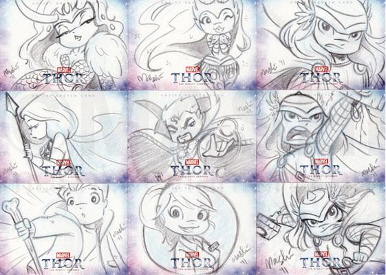 Thor Sketch Cards by mashi