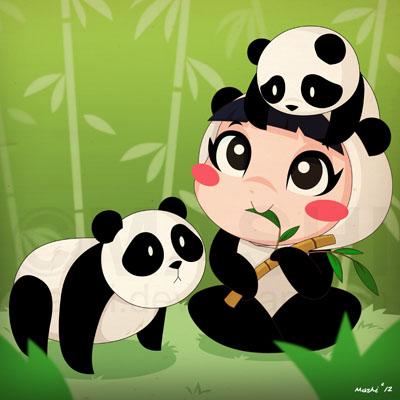 Panda Girl by mashi