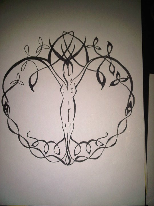 mother nature tree tattoo designs