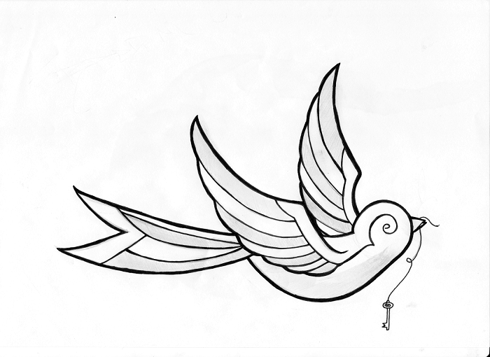 Simple Bird Drawing Tattoo Images amp Pictures Becuo