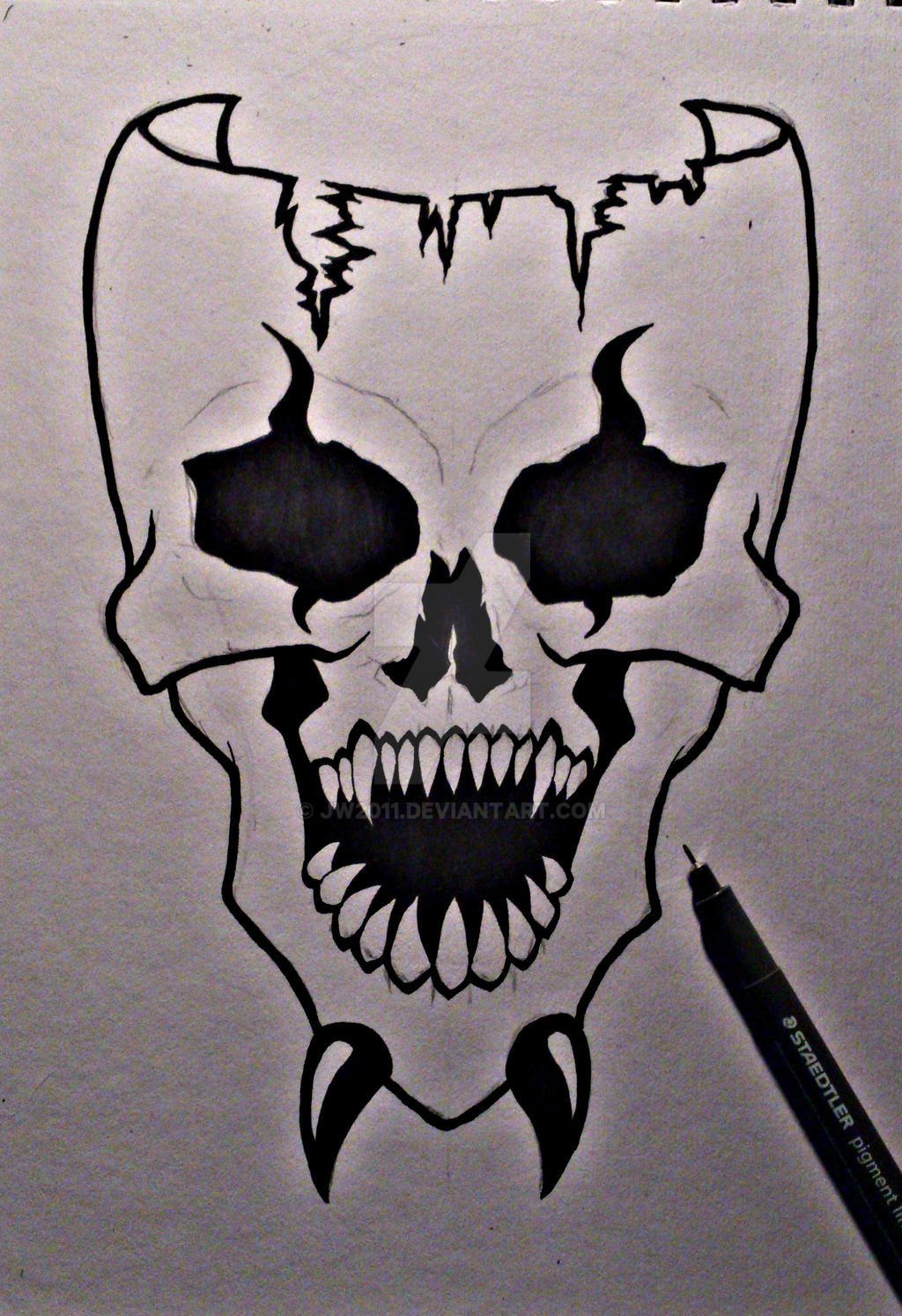 Scary Skull Mask Drawing by JW2011 on DeviantArt