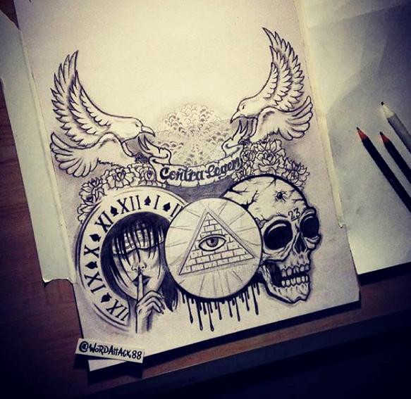 ILLUMINATI Tattoo Design By JW2011
