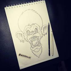 Angry Ape Sketch