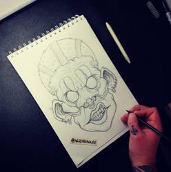 Creepy Clown Sketch