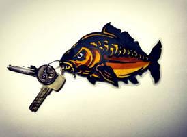 Hand-made Carp Keychain
