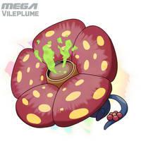 Mega Vileplume by Malamarvellous