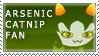 arsenicCatnip Fan Stamp by RyujiDicey