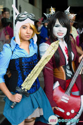 Marceline and fionna- adventure time steampunk by ana02tenshi
