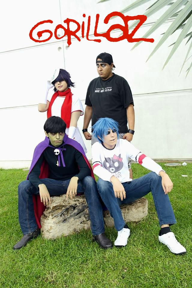 more photos, gorillaz grupal cosplay by ana02tenshi