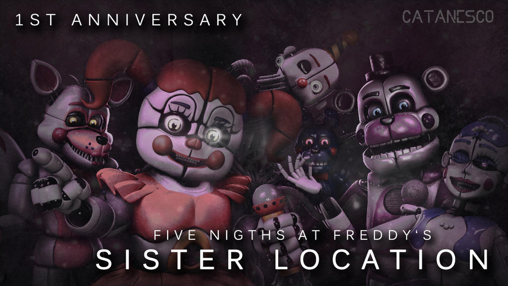 Fnaf sister location st anniversary by catanesco on deviantart