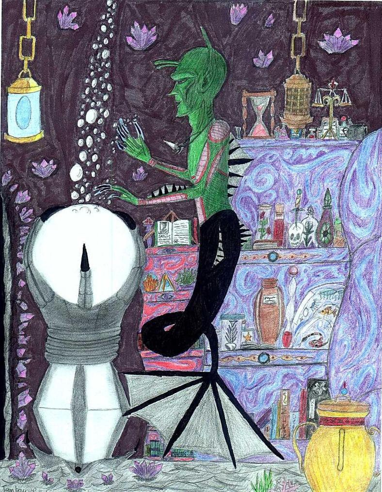 Tambourine, Sea Mage by C-y-n-d-i