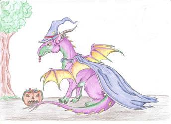 Halloween Dragon by jaszczura1