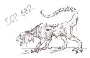 SCP 682 by jaszczura1