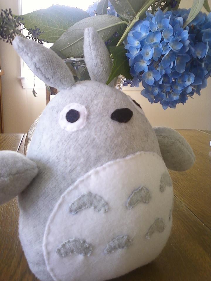 Totoro plush by rainespelled
