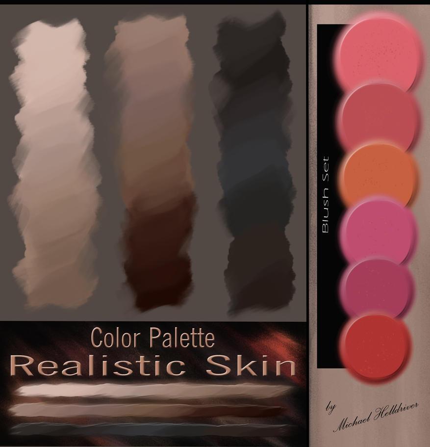 Color Palette - Realistic Skin + Blush Set by DearFellowArtist
