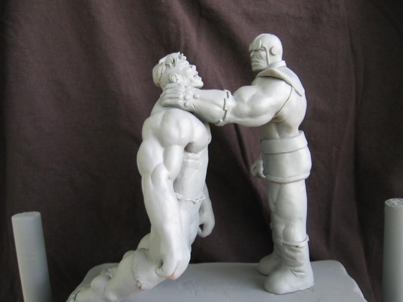 Thanos choking the hulk by synn1978