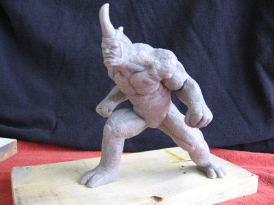 Rhino statue by synn1978