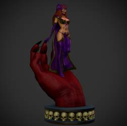 DCUO Circe in Trigons hand.