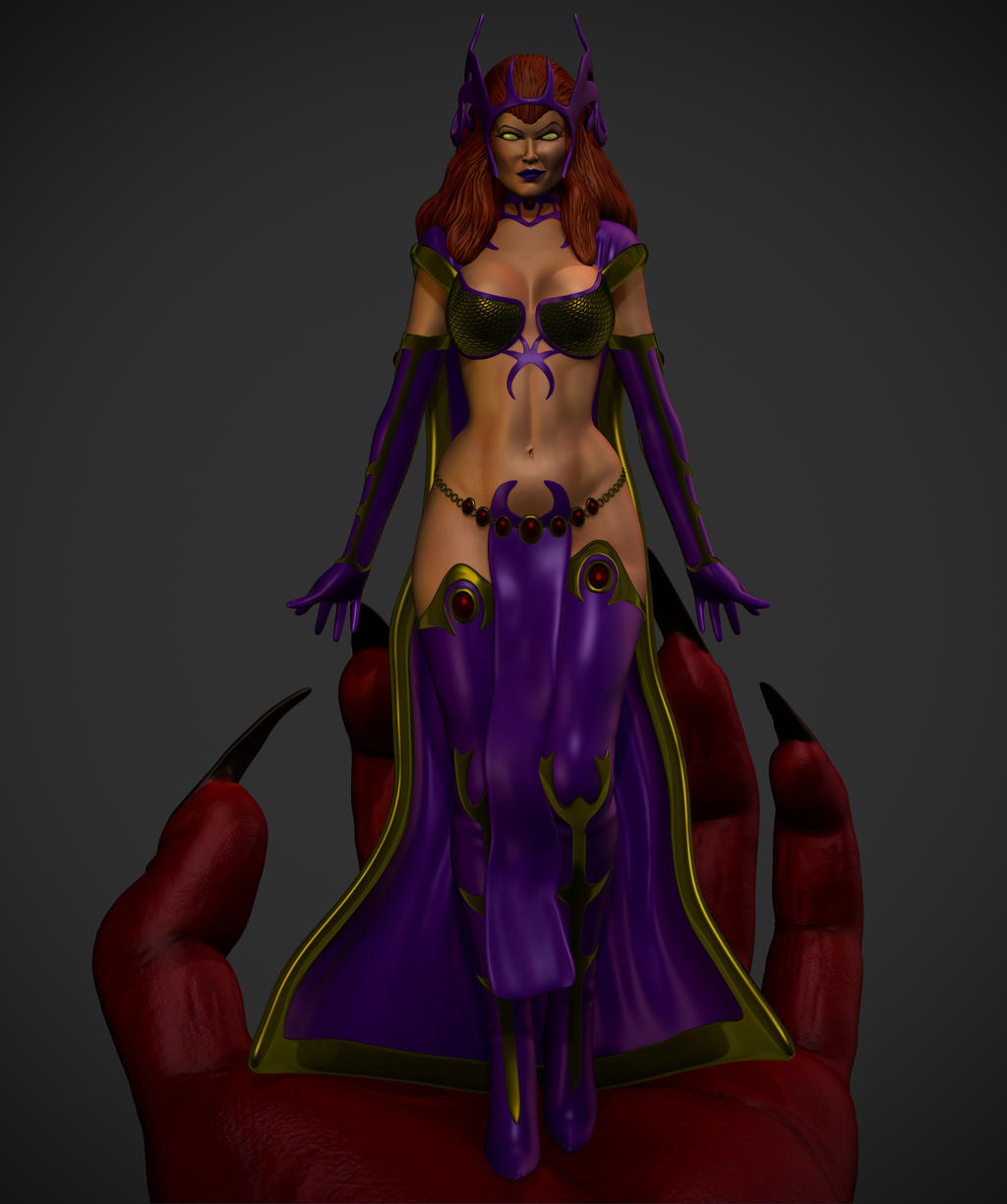 DCUO Circe in Trigons hand. by synn1978