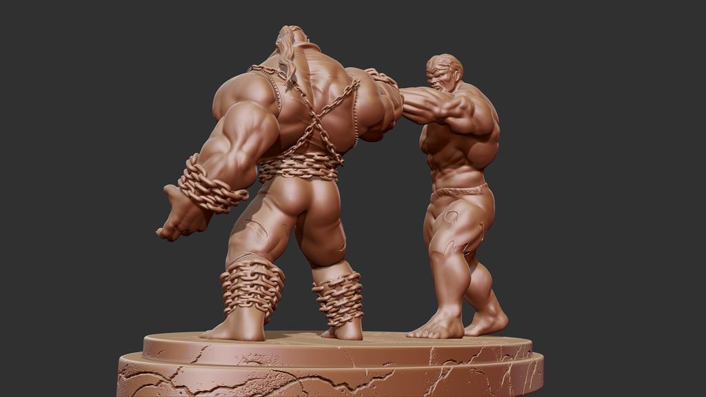 Hulk vs Pitt by synn1978