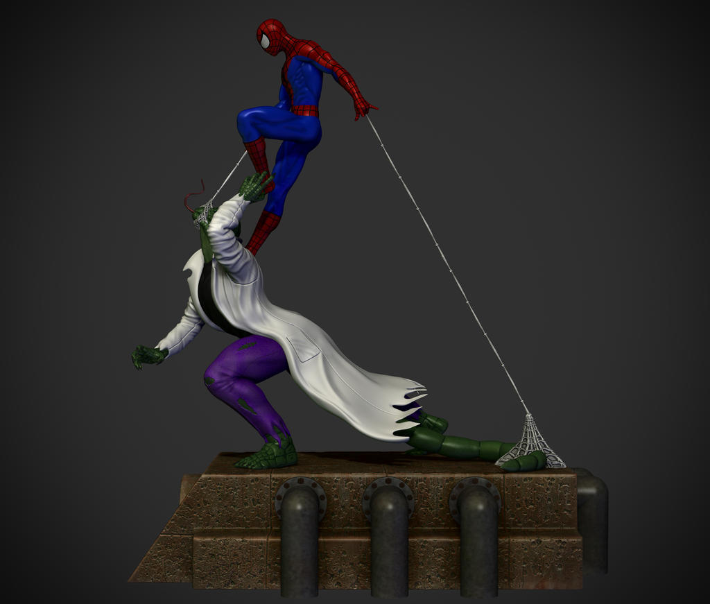 Spider-man vs. The lizard. by synn1978