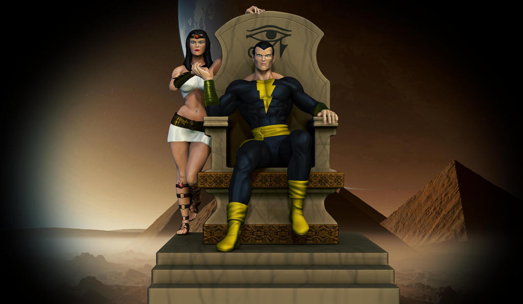 Black Adam and Isis. by synn1978
