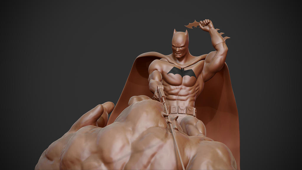 Batman vs. Clayface. by synn1978