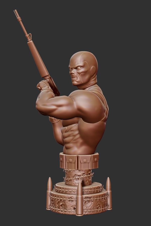 Marvel comics Crossbones mini bust. by synn1978