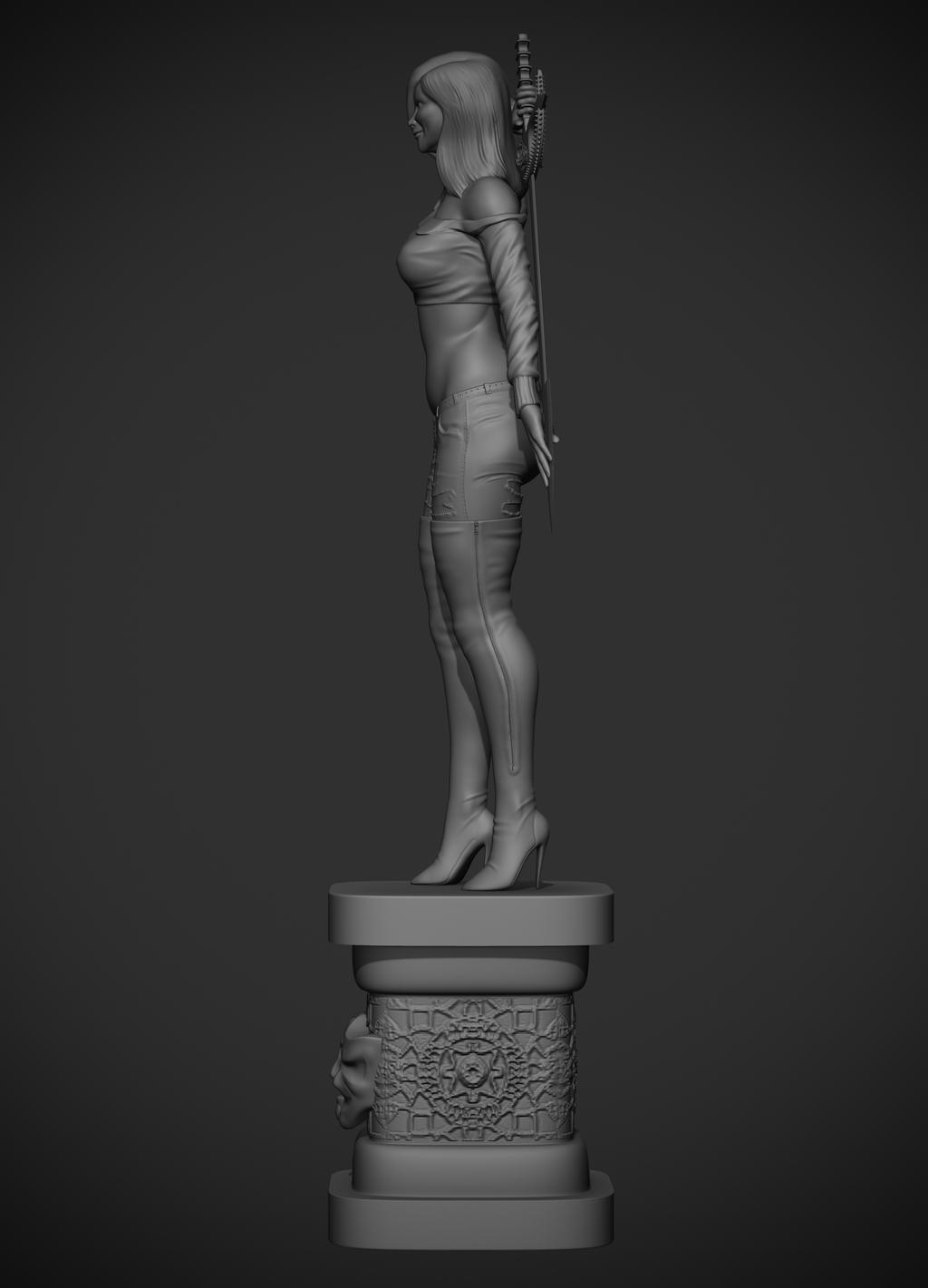 Joseph michael linsner's Dawn, digital sculpt by synn1978