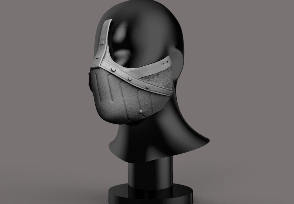 Erron Black mask 3D print concept. by synn1978