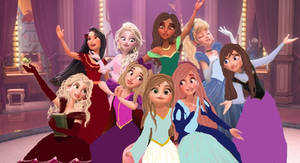 The outside characters (princesses)