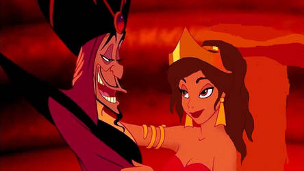 Jafar and Rose- after Jafar's takeover